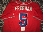 Freddie Freeman Signed Auto Atlanta Braves Jersey All Star Superstar PSA DNA #2