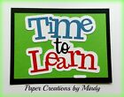 Craftecafe Mindy Fall School time to learn title premade paper piecing scrapbook