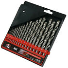 CT3726 19PC HSS Drill Bit Set Ideal For Metal Wood Or Plastic 1-10mm In Case