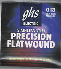 GHS STAINLESS STEEL PRECISION FLATWOUND ELECTRIC GUITAR STRINGS SET 1000 Medium