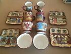 Set of 12 KATE McROSTIE Certified International French Boulevard Dishes