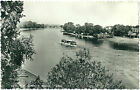 THE RIVER THAMES A VIEW FROM CHISWICK BRIDGE. REAL PHOTOGRAPHIC (RP) POSTCARD