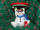 2005 FF Fitz and Floyd Classics Frosty Friends Snowman Christmas Candleholder