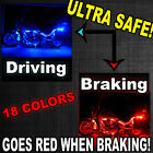 8pc BMW Motorcycle Remote Neon LED Accent Underglow Kit w Brake Light Feature