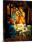 Nativity Scene Canvas Wall Art Print Christmas Home Decor