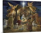 Nativity Canvas Wall Art Print Christianity Home Decor