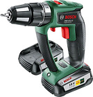 Bosch PSB 18 LI-2 Ergonomic Cordless Combi Drill with Two 18 V Lithium-Ion Batte