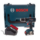Bosch Professional GSB L-Boxx 18-2-LI Plus Cordless Combi Drill with Two 18 V 2.