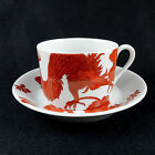 2 Fitz & Floyd Red Rust TEMPLE DRAGON  Cup & Saucer 16161