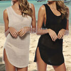 Women Swimwear Bathing Suit One Piece Dress Crochet Bikini Cover Up Beach Dress