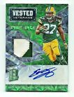 Eddie Lacy 2016 Spectra Football Vested Veterans Neon Green Patch Auto 10 25