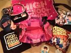 Large Lot Of High School Musical Disney Accessories Duffle Bag Pillow Purse Hat