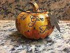 Give Thanks Pumpkin Metal Leaves Vines Thanksgiving Decoration Fall Autumn