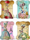 8 WOMEN MARIE ANTIONETTE SPOOL SHAPE HANG GIFT TAGS FOR SCRAPBOOK PAGES 18