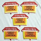 Vintage POPEYES famous fried chicken (now Louisiana kitchen) patch LOT 5 MINT