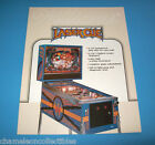 LASER CUE By WILLIAMS 1984 ORIGINAL NOS PINBALL MACHINE SALES FLYER BROCHURE
