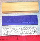 Stampin Up A Little Bit of Happiness Stamp Single love Hearts Border New