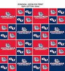 GONZAGA BULLDOGS COTTON FABRIC GONZAGA 100 COTTON FABRIC SOLD BY THE YARD