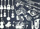 LOTS 6 20 PCS SUB SETS INSTRUMENT DIE CUTS READ HORN STRING VIOLIN PIANO BAND