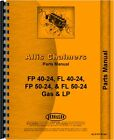 Allis Chalmers Fp40-24 Pf50-24 Fpl40-24 Forklift Parts Manual Ac-p-fp 40-24
