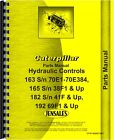 Caterpillar 163 Hydraulic Control Attachment Parts Manual SN# 38F1 and Up