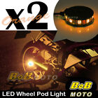 2x Orange 360 Degree Cycle Rim Wheel SMD LED Pod Light For KTM Motorcycles