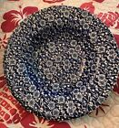 Queens China CALICO Chintz BLUE Rim Rimmed Soup Bowl 8-7/8