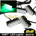 EMIT 12V Green Mini LED Fairing Blinker Set For Aprilia Motorcycles Bikes