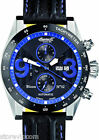 INGERSOLL IN1620BKBL Bison No 32 Blue Chrono Black Strap 49mm Watch Brand NEW!