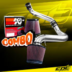For 91-99 Saturn S-Series MT 1.9L 4cyl Polish Cold Air Intake + K