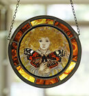 Butterfly Fairy stained glass fairy suncatcher handpainted kilnfired glass