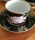 Vintage Fitz Floyd Cloisonne Peony Cup & Saucer