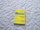 OMM124892 JOHN DEERE OWNER OPERATOR MANUAL F1145 FRONT MOWER
