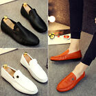 Fashion Men Casual Sneakers Leather slip on Driving loafer Canvas Mens shoes