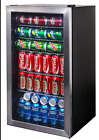 126 Can Stainless Steel Beverage NewAir Cooler Glass Door Fridge Ab-1200 Center