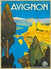 Avignon Paris France Vintage French Travel Advertisement Art Poster Print