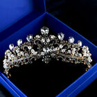 Vintage Bridal Jewelry Wedding Black Crystal Queen Crown Tiara Prom Headband New