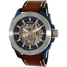 Fossil Men's Modern Machine ME3135 Brown Leather Automatic Dress Watch