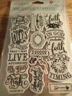 Prima Marketing Love Faith Scrap Rubber Cling Stamps Quotes 589882 New