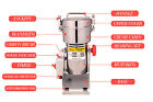 High Power Herb Grain Grinder Cereal Mill Powder Grinding Machine Flour 2000g