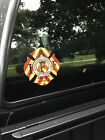 RED YELLOW IAFF Firefighter Union Chevron Reflective 3M Sticker Decal 4