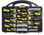 Stanley 34 Piece DIY Screwdriver Set Kit with Carry Box Tray Precision Phillips