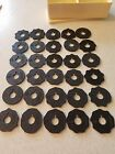 Huge Lot of 30 Singer Simanco Sewing Flat  Fashion Discs Cams Merritt With Case