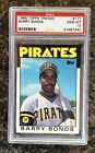 1986 Topps Traded Barry Bonds ROOKIE RC #11T PSA 10 GEM MINT W RARE HOLDER