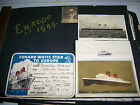vintage 1949 Europe photo scrapbook MAURETANIA White Star Cunard Lines mustC