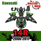 Kawasaki 2006-2011 06 ZZR1400 ZX-14R ZX14R ZZR ABS Injection Molding Fairing Set