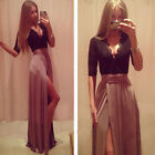 US Women Formal Long Lace Dress Party Prom Cocktail Bridesmaid Wedding Gown