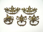 Antique Lot Cast Bronze Gold Decorative Victorian Dresser Hardware Pulls Handles