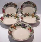 Lot 5 Coupe Cereal Soup Bowls Sakura Oneida Excell SONOMA TAN Green Fruit