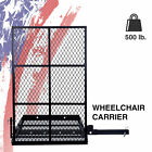 Foldable Electric Wheelchair Hitch Carrier Steel Construction w Loading Ramp